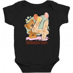4st Birthday Boy Baby Bodysuit | Artistshot