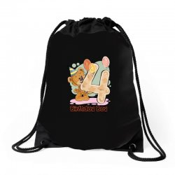 4st Birthday Boy Drawstring Bags | Artistshot