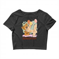 4st Birthday Boy Crop Top | Artistshot