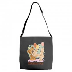 4st Birthday Boy Adjustable Strap Totes | Artistshot