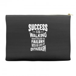 Success Is Walking Accessory Pouches | Artistshot