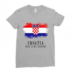 Croatia Ladies Fitted T-Shirt | Artistshot