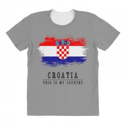 Croatia All Over Women's T-shirt | Artistshot