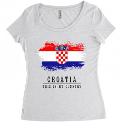 Croatia Women's Triblend Scoop T-shirt | Artistshot