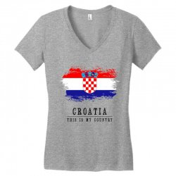 Croatia Women's V-Neck T-Shirt | Artistshot