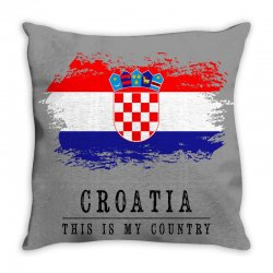 Croatia Throw Pillow | Artistshot