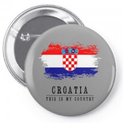 Croatia Pin-back button | Artistshot