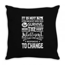 Strongest Species Throw Pillow | Artistshot