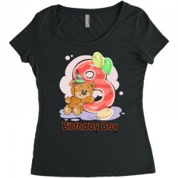 8ST BIRTHDAY BOY Women's Triblend Scoop T-shirt | Artistshot