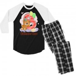 8ST BIRTHDAY BOY Men's 3/4 Sleeve Pajama Set | Artistshot