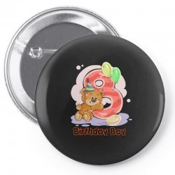 8ST BIRTHDAY BOY Pin-back button | Artistshot