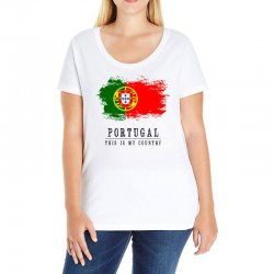 Portugal Ladies Curvy T-Shirt | Artistshot