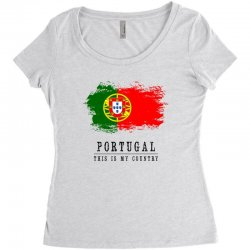 Portugal Women's Triblend Scoop T-shirt | Artistshot