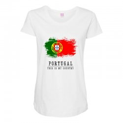 Portugal Maternity Scoop Neck T-shirt | Artistshot
