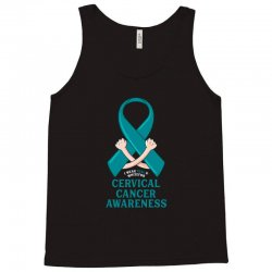 i wear teal and whitefor cervical cancer awareness for dark Tank Top | Artistshot
