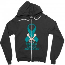 i wear teal and whitefor cervical cancer awareness for dark Zipper Hoodie | Artistshot