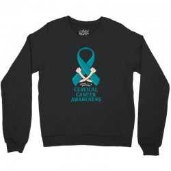 i wear teal and whitefor cervical cancer awareness for dark Crewneck Sweatshirt | Artistshot