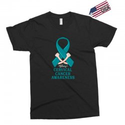 i wear teal and whitefor cervical cancer awareness for dark Exclusive T-shirt | Artistshot