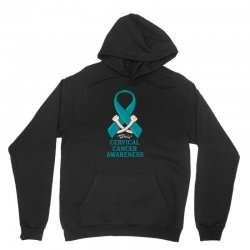 i wear teal and whitefor cervical cancer awareness for dark Unisex Hoodie | Artistshot