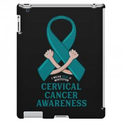 i wear teal and whitefor cervical cancer awareness for dark iPad 3 and 4 Case | Artistshot