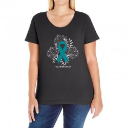 i will never give up for dark Ladies Curvy T-Shirt | Artistshot