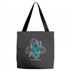 i will never give up for dark Tote Bags | Artistshot