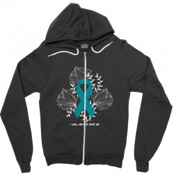i will never give up for dark Zipper Hoodie | Artistshot