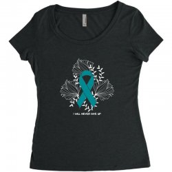 i will never give up for dark Women's Triblend Scoop T-shirt | Artistshot