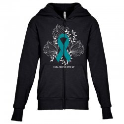i will never give up for dark Youth Zipper Hoodie | Artistshot