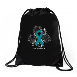 i will never give up for dark Drawstring Bags | Artistshot