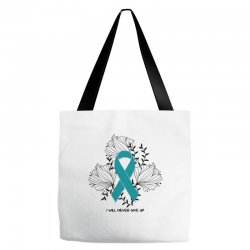 i will never give up for light Tote Bags | Artistshot