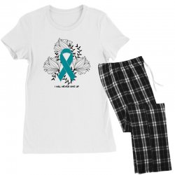 i will never give up for light Women's Pajamas Set | Artistshot