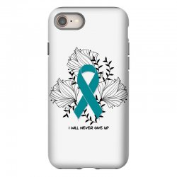 i will never give up for light iPhone 8 Case | Artistshot