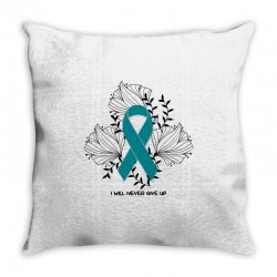 i will never give up for light Throw Pillow | Artistshot
