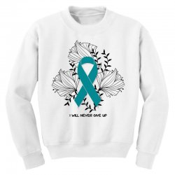 i will never give up for light Youth Sweatshirt | Artistshot