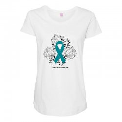 i will never give up for light Maternity Scoop Neck T-shirt | Artistshot