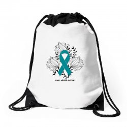 i will never give up for light Drawstring Bags | Artistshot