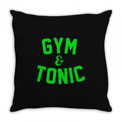gym tonic Throw Pillow | Artistshot