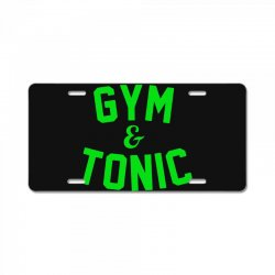 gym tonic License Plate | Artistshot