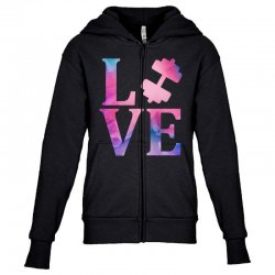 love gym Youth Zipper Hoodie | Artistshot