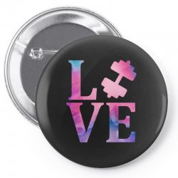 love gym Pin-back button | Artistshot