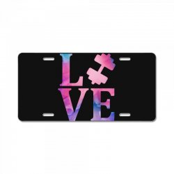 love gym License Plate | Artistshot