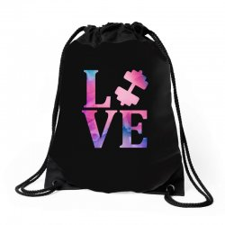 love gym Drawstring Bags | Artistshot