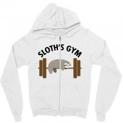 sloth's gym for light Zipper Hoodie | Artistshot