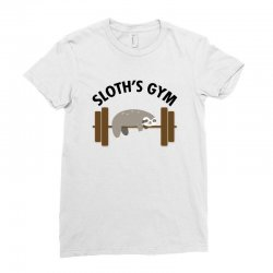 sloth's gym for light Ladies Fitted T-Shirt | Artistshot
