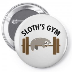 sloth's gym for light Pin-back button | Artistshot