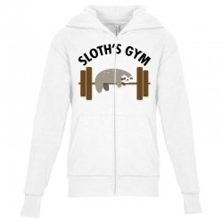 sloth's gym for light Youth Zipper Hoodie | Artistshot
