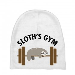 sloth's gym for light Baby Beanies | Artistshot