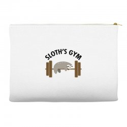 sloth's gym for light Accessory Pouches | Artistshot