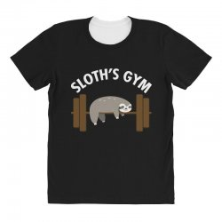 sloth's gym for dark All Over Women's T-shirt | Artistshot